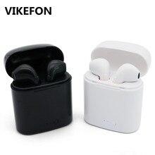VIKEFON i7s TWS мини беспроводной Bluetooth наушники стерео вкладыши гарнитура с зарядным устройством Mic для iPhone Xiaomi samsung Телефоны