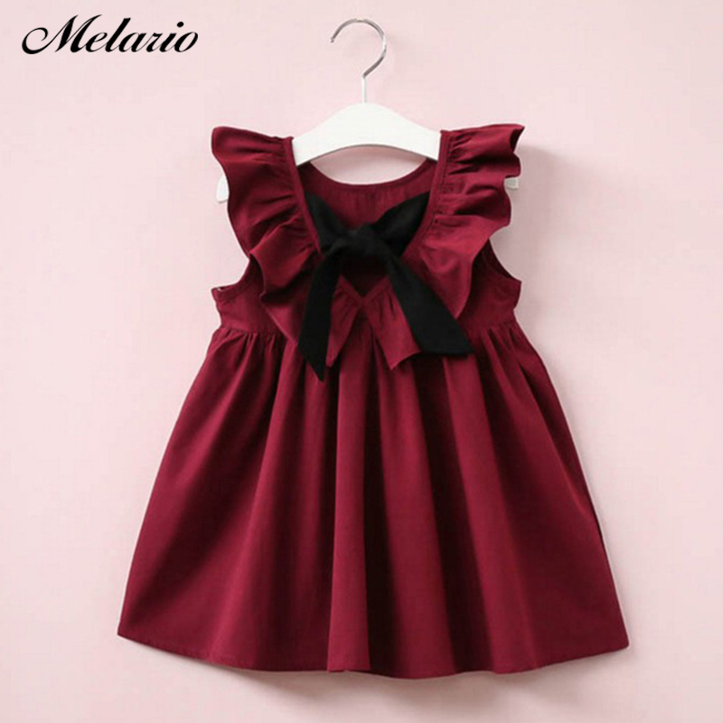 Melario Girls Dress 2018 Princess Dress Baby Girls Clothes Bird printing Long Sleeve Kids Tunic Jersey Dresses for Girls Clothes