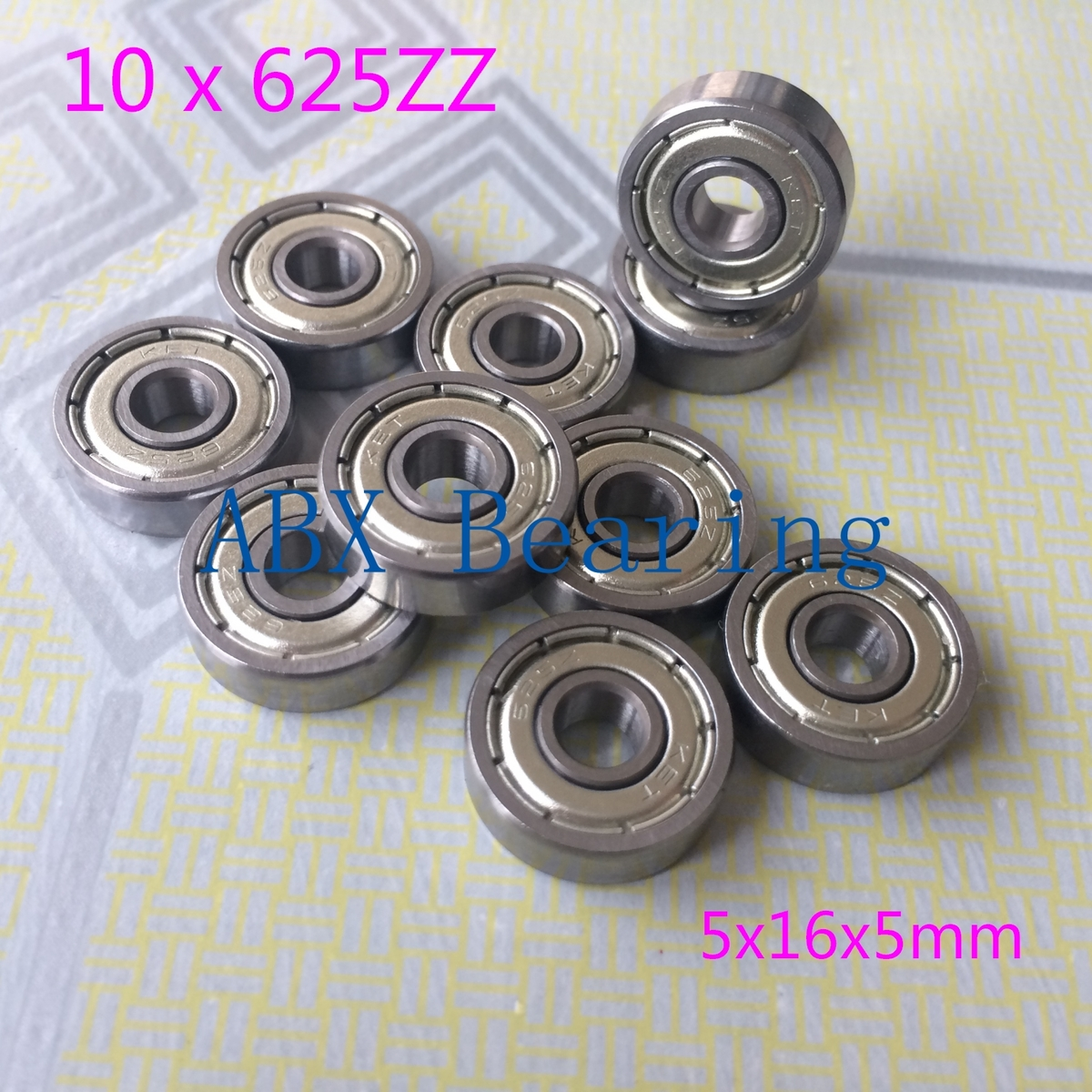 10pcs/lot 625ZZ 625Z 625-2Z 625 deep groove ball <font><b>bearing</b></font> 5x16x5 mm miniature <font><b>bearing</b></font> <font><b>5*16*5</b></font> mm image