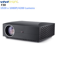 Original VIVIBRIGHT F30 LCD Projector FHD 1920 x 1080P 4200 Lumens 50000hrs Lamp Life Home Entertainment Home Theater Projector