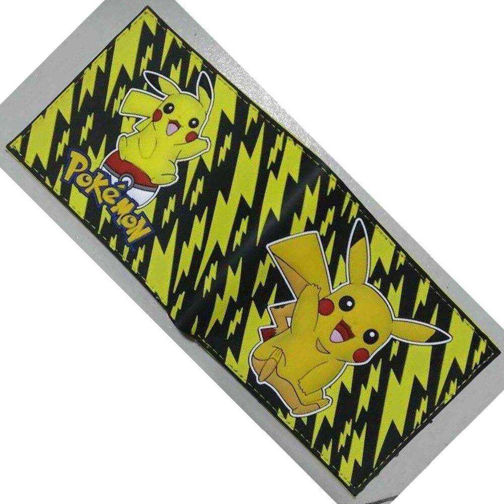 Trendy Fashion Cute Pikachu Wallet PVC Purse Pokemon Go Pikachu Gift Kids Dollar Bags Pocket Monster Ball Cartoon Games Wallets