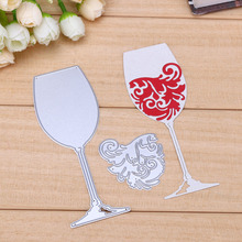 image about Free Printable Wine Glass Stencils known as Invest in gl chopping die and take free of charge shipping and delivery upon