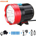 10-T6 LED 20000 Lumens battery + charger Bike lights headlight Mountain lights  flashlight  floodlight The searchlight