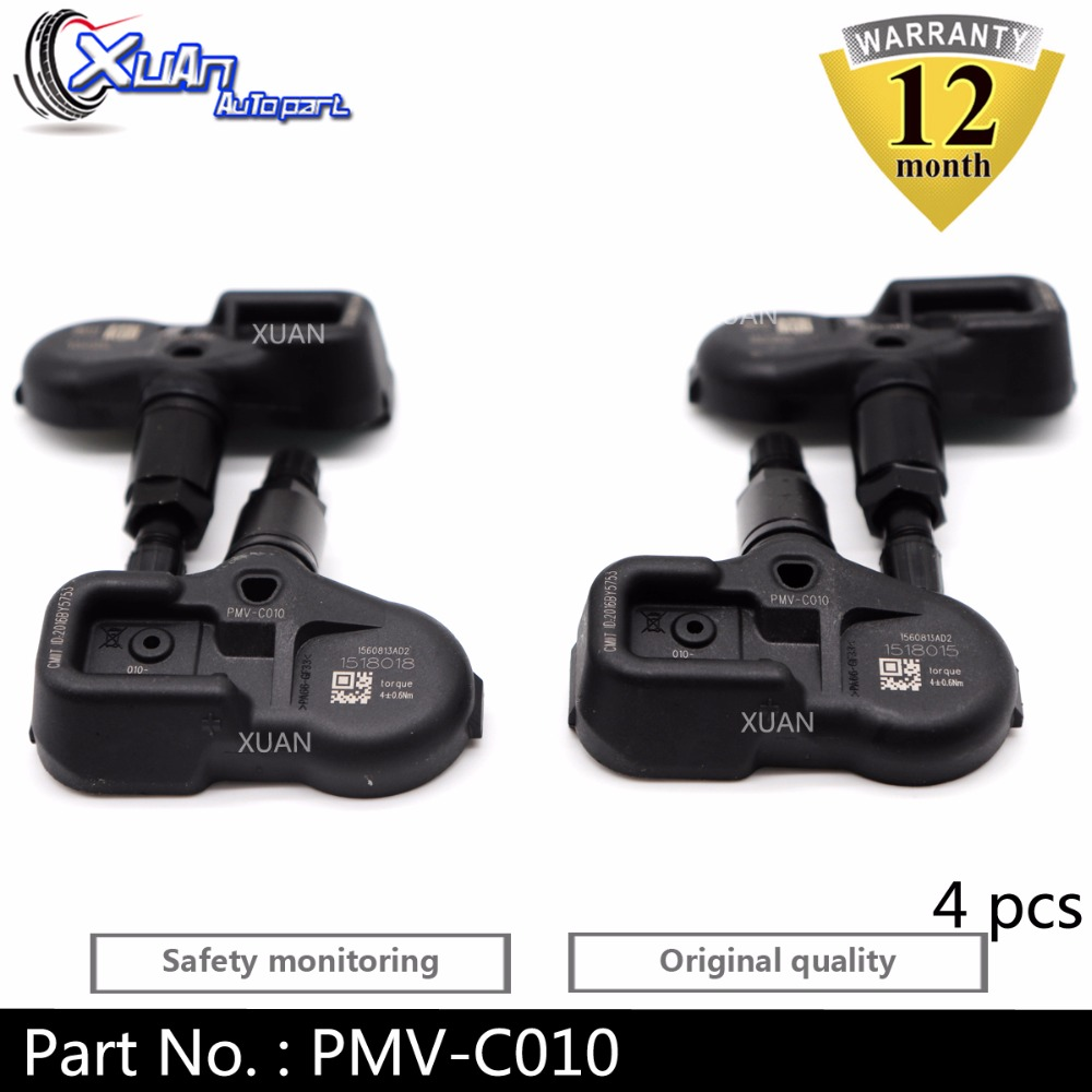 XUAN 4 PCS Tire Pressure Monitor Sensor TPMS for Toyota C HR CHR Corolla Pacific Camry V70 PMV C010 315Mhz