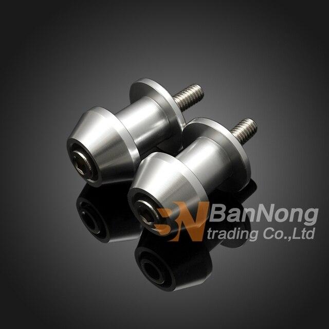 8mm Motorcycle CNC Aluminum Swingarm Spools slider stand screws For Bandit GSF 650 1200 1250 GSX650F GSXR1000/600/750 GSXR1300