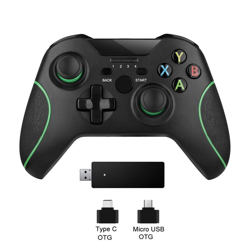 2.4G Controlador Para Xbox Um Console Para PS3/Xbox one Console Apoio Win7/8/10 PC terno Para O telefone Android Gamepad Joypad