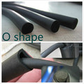 1 meter DIY car door Edge Protector flexible O shape Rubber Seal Strip Solid Round Car Auto Door Edge Protector Weatherstrip