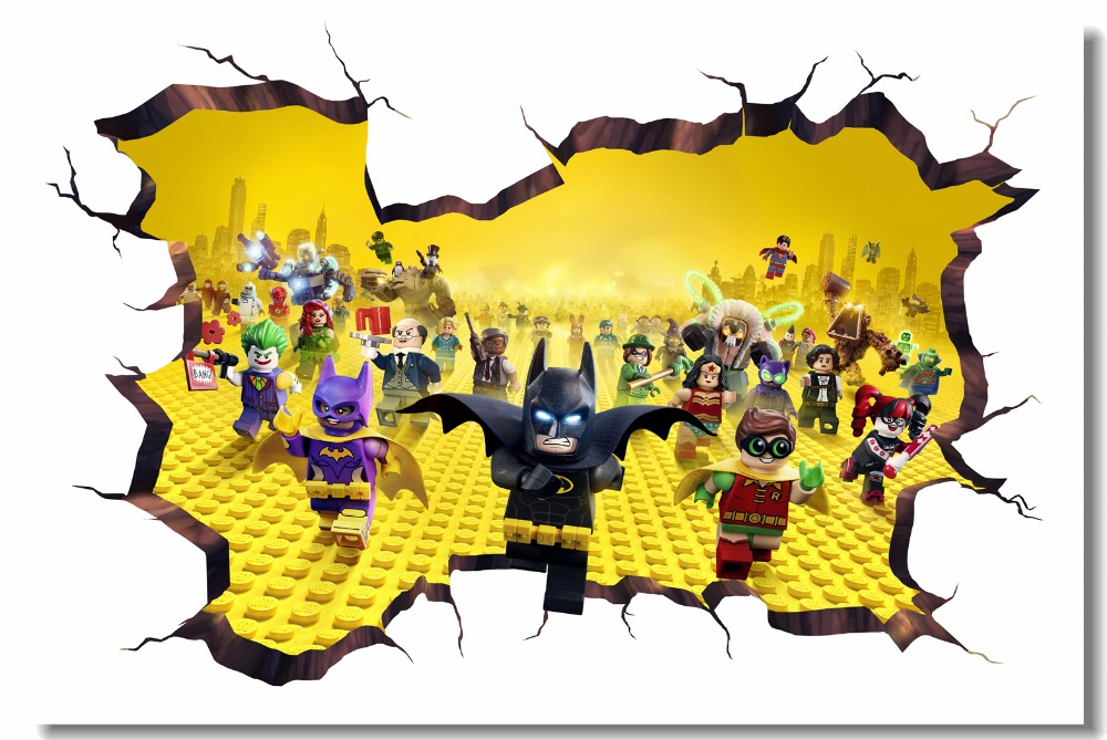 . US  5 27 34  OFF Custom Canvas Wall Mural Lego Movie Hobbit Poster Lego  Batman Wallpaper 3D Wall Stickers Kids Bedroom Nursery Decorations   0781  in