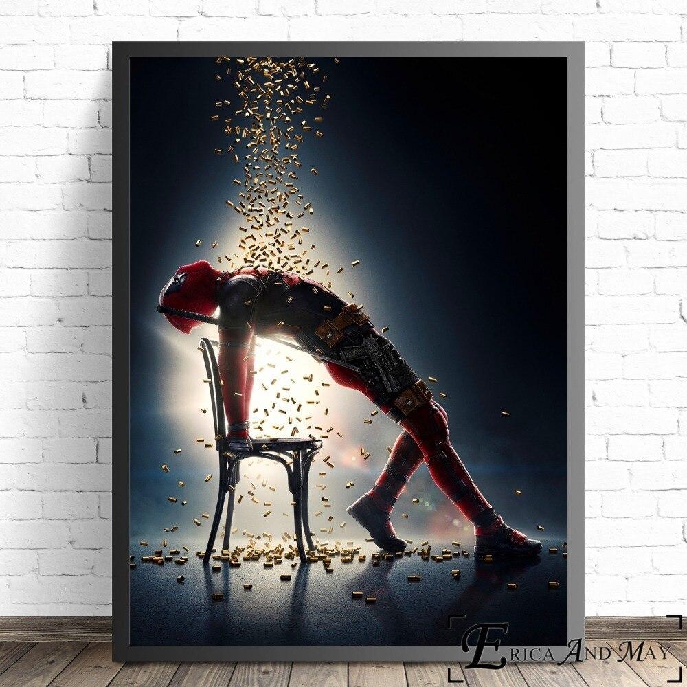 Marvel Wall Art Splatter Superhero ART PRINT Deadpool illustration
