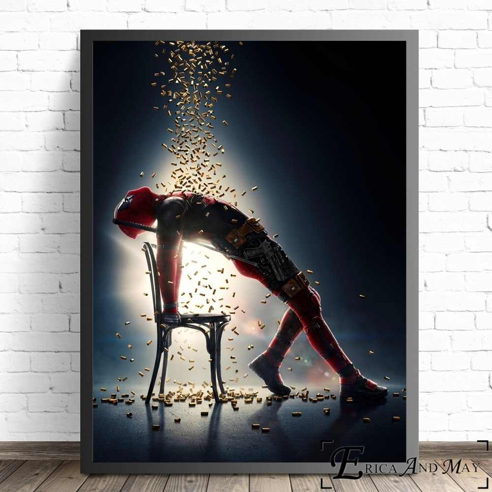 Deadpool 2 Superhero Movie Figure Canvas Prints Modern Painting Posters Wall Art Pictures For Living Room Decoration No Frame