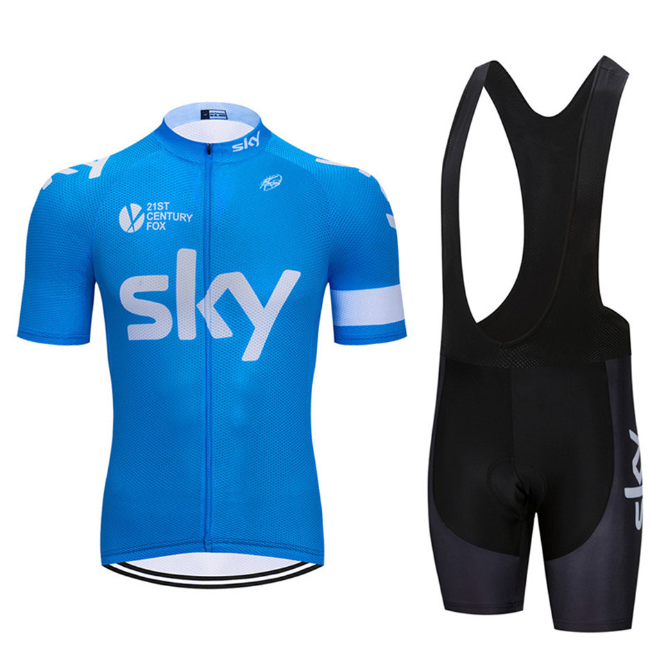 BLUE 2018 Men s Cycling Riding Gear Mountain Biking Clothing SKY Team Clothing  Ropa Ciclismo Jerseys PRO Bike-in Cycling Sets from Sports   Entertainment  on ... 1c8696b1e