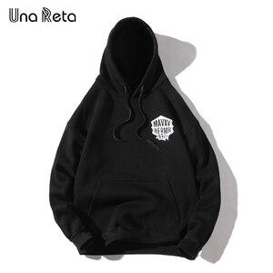 Image 2 - Una Reta Streetwear גברים נים חדש סתיו הדפסת סווטשירט בתוספת גודל כותנה בסוודרים אימונית היפ הופ גברים/נשים הסווטשרט