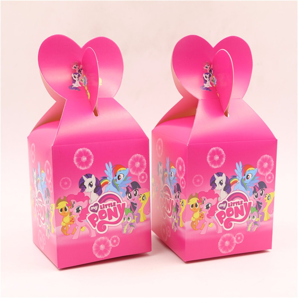 10pc kids favors my little pony design candy box party supplies ...