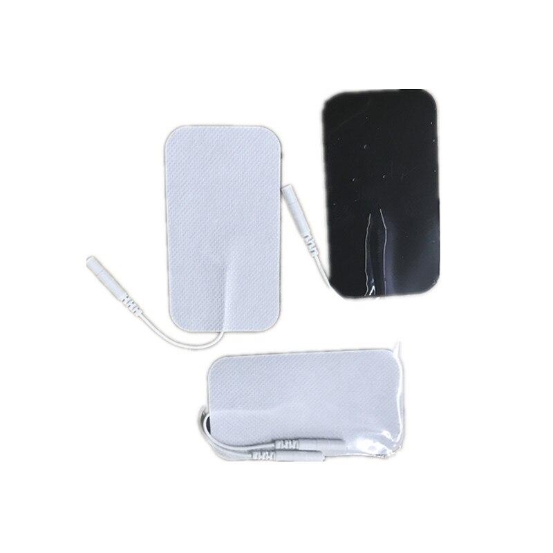 10 stücke Große 5X9 cm Pins Zehn Elektrode Pads Non-woven Adhesive Gel Electro Paste Stick Elektrische körper Therapie Massager Maschine