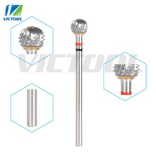 """Victool High Quality Nail Drill Bits Ball Shape 3/32"""" For Professional Pedicure Machines Nail Art Salon Manicure Grinding 20"""
