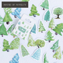Creative Little Forest Trees Decorative Stickers Adhesive Stickers DIY Decoration Diary Stickers Box Package