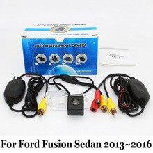 Стоянка для автомобилей Камера Для Ford Fusion Sedan 2013 ~ 2016/RCA Кабель aux или Беспроводной/HD CCD Ночного Видения/Автомобильная Камера Заднего вида