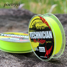 POETRYYI 100M XPS Super Strong Monofilament Fluorescent green Nylon Carp Fishing Line Not Fluorocarbon line 30(China)