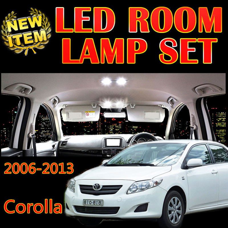 Night lord 8 x Error Free White Interior LED Light Package Kit For toyota corolla accessories 2006-2013 reading Indoor lights