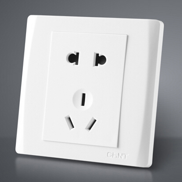 Free Shipping White Electric 2 Holes Port Wall Charger Panel Socket 220 To 250V Outlet Plate