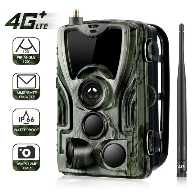EYOYO 4G MMS Trail Cameras PIR GSM Hunting Cameras 16MP 1080P Infrared Outdoor Waterproof Wildlife Surveillance HC-801LTE