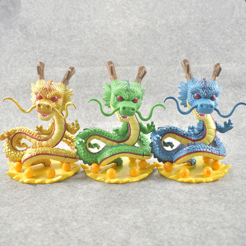 2018 4colors Lucky Collectible Dolls 14cm Anime Action Figure Dragon Ball Z POP Shenron Model PVC Collection Dragon Toy for Kids j g chen anime cartoon dragon ball z shenron shenlong gold pvc action figure collectible model toy free shipping