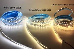 Image 3 - Super Helle 5M 2835 SMD 120led/m 600Leds Weiß Warm Weiß Flexible LED Streifen 12V Nicht  wasserdichte mehr heller als 3528 streifen