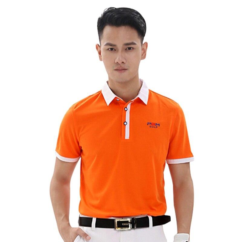 PGM Outdoor Polo T Shirt Golf Shirt Men Quick Dry T-shirts Turn Down Collar Short Sleeve Golf Shirts Sport Clothing