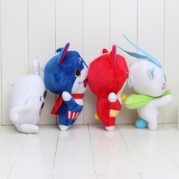 4 Styles 20cm Japan Yokai Watch Red Cat KOMA SAN Nyan Whisper Youkai Watch Plush Toy Soft Doll 2