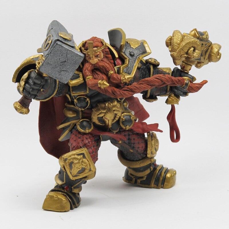 Wow DC Action Figure Sınırsız Serisi 6 6 inç Magni Bronzebeard [Cüce Kral] WOW PVC Modeli Şekil Ücretsiz kargo GS005