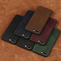 wangcangli phone case For iPhone 7 Plus Real Calf leather Back Cover Case Leather Case