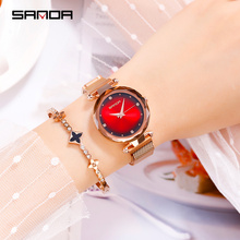 SANDA Womens Watches top brand luxury ladies fashion quartz watch waterproof montre femme