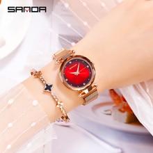 SANDA Women's Watches top brand luxury ladies fashion quartz watch ladies waterproof watch montre femme все цены