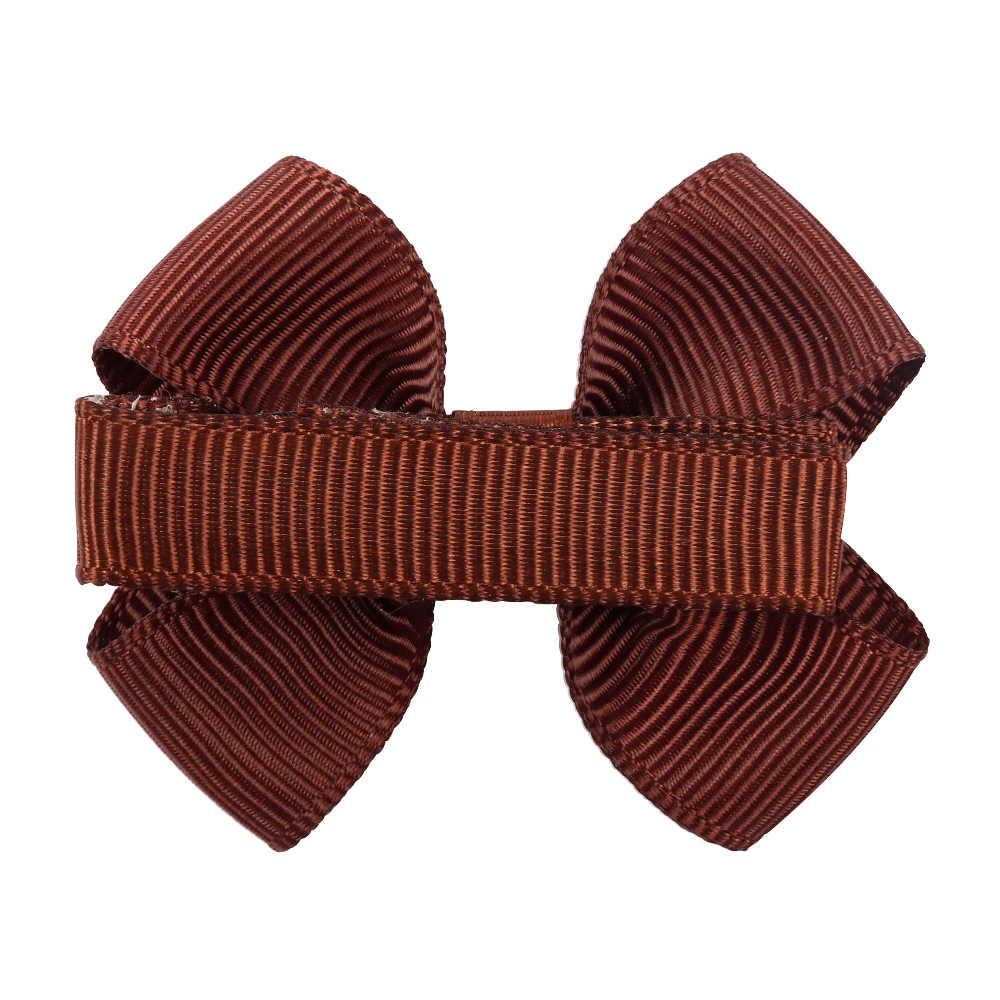 CN 20 шт./партия, аксессуары для волос для девочек, 2 дюйма, мини-банты для волос с зажимами, корсажные ленты, галстук-бабочка для волос, детские головные уборы