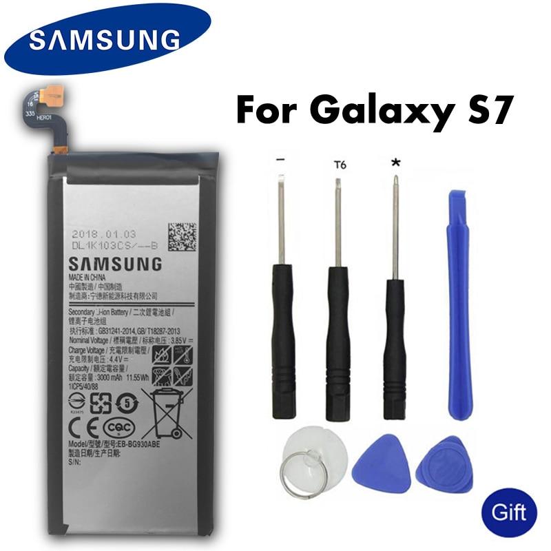 Original Samsung Phone Battery EB-BG930ABE For Samsung GALAXY S7 G9300 G930F G930A G9308 SM-G9300 Replacement Battery 3000mAhOriginal Samsung Phone Battery EB-BG930ABE For Samsung GALAXY S7 G9300 G930F G930A G9308 SM-G9300 Replacement Battery 3000mAh