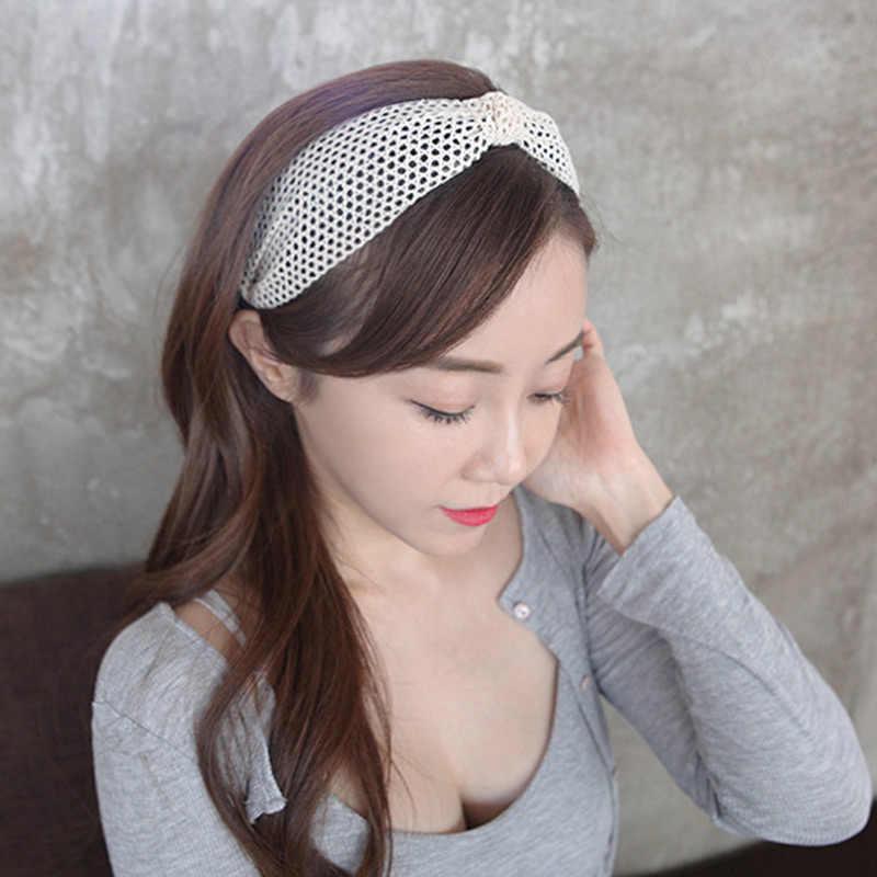 Headband Hollow Out 5 Warna Nyaman Hadiah Lebar Wanita Sederhana Lembut Melilit Headband Kualitas Tinggi Renda Ventilasi 1PC Yang Unik
