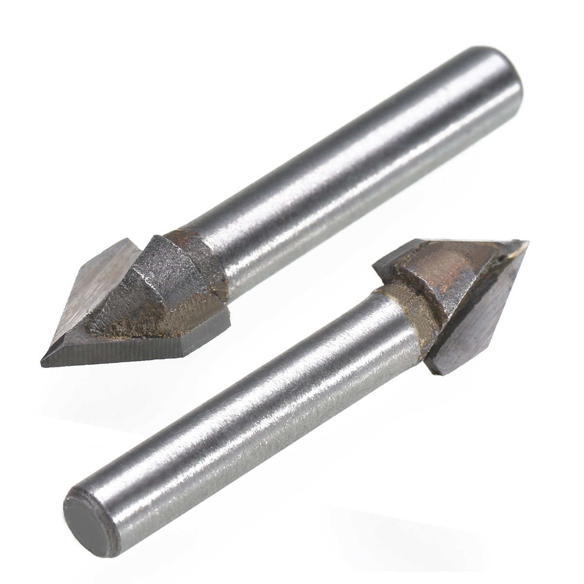 """V Groove Carbide Router Bit Woodworking Router Bit 60 Degree Angle 1//4/"""" Shank"""