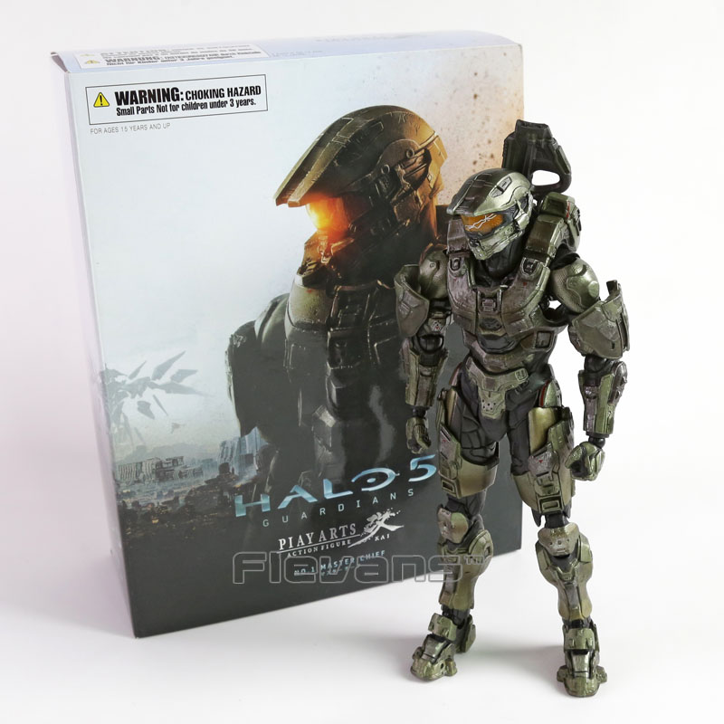 Play Arts KAI HALO 5 Guardians No.1 Master Chief PVC Action Figure Collectible Model Toy play arts kai kingdom hearts roxas pvc action figure collectible model toy
