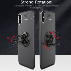 MAKAVO For Apple iPhone XS Case iPhone XR Skin Ring Holder Matte Soft Silicone Back Cover For iPhone XS Max Phone Cases 2