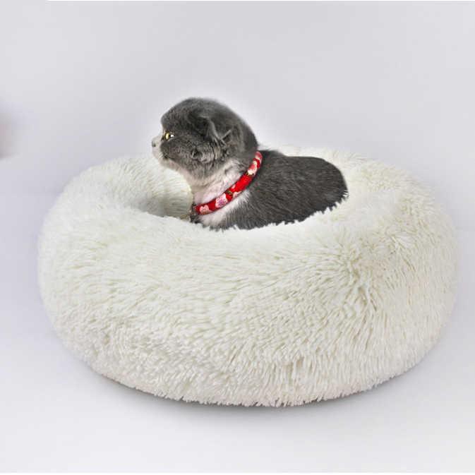 Pet моющийся круглый длинные волосы осень/Зимний коврик, кошка и собака дышащий диван, супер мягкий плюшевый коврик для собак