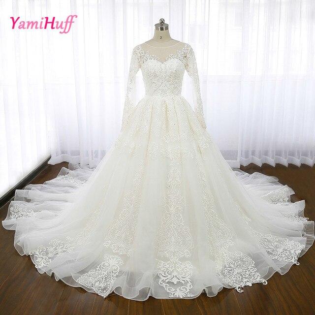Luxus Arabischen Hochzeitskleider Spitze Langarm Libanon Couture ...
