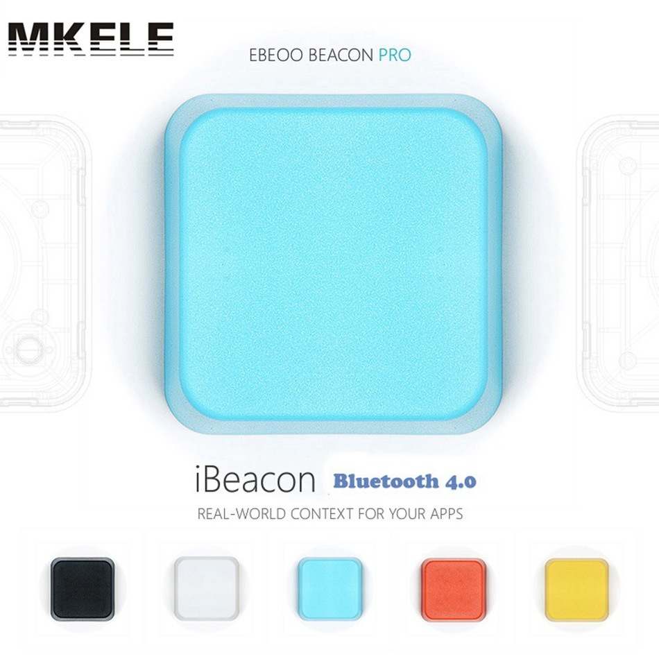 3PCS/Lot Ibeacon Bluetooth 4.0 waterproof Low Energy kit beacon bluetooth module receiver Proximity Device with Battery iot projects with bluetooth low energy