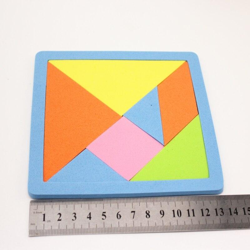 2pcs/set New Children Mental Development Tangram Soft Material Jigsaw Puzzle Educational Toys For Kids