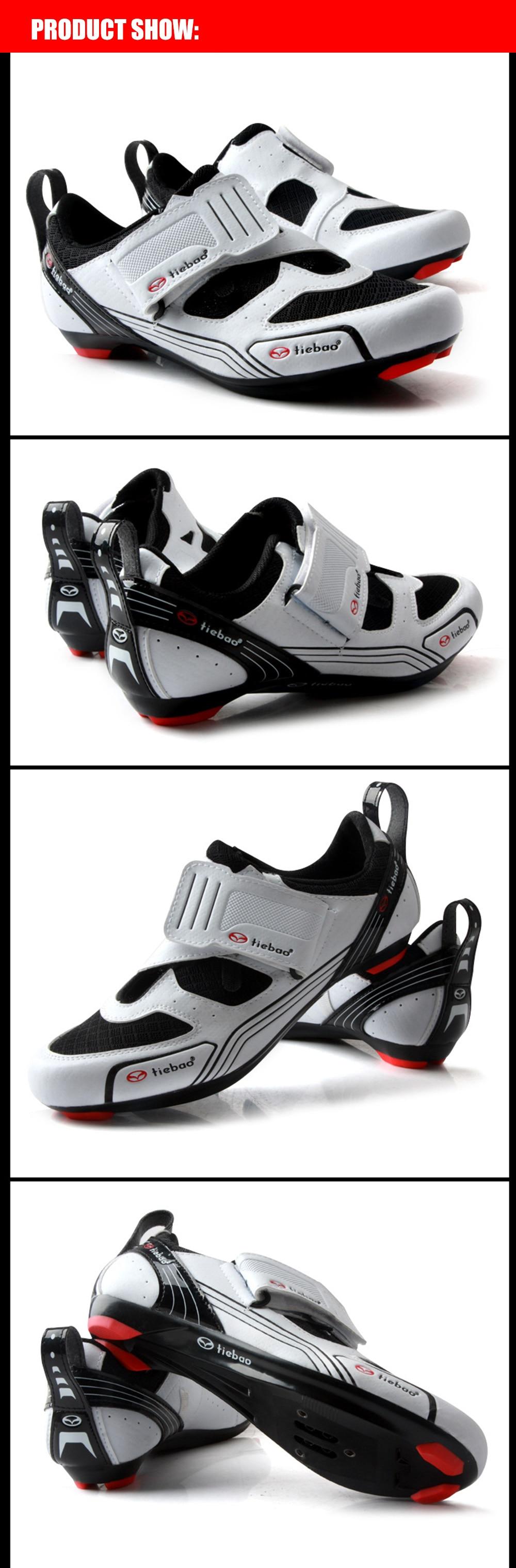 Tiebao homens sapatos de bicicleta de estrada