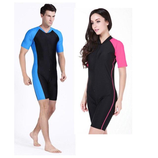 Free Shipping Men Women Dive Skin Swimwear Surf Diving Suit Short Sleeve Wetsuit One Piece Bathing Suit Spearfishing rashguard