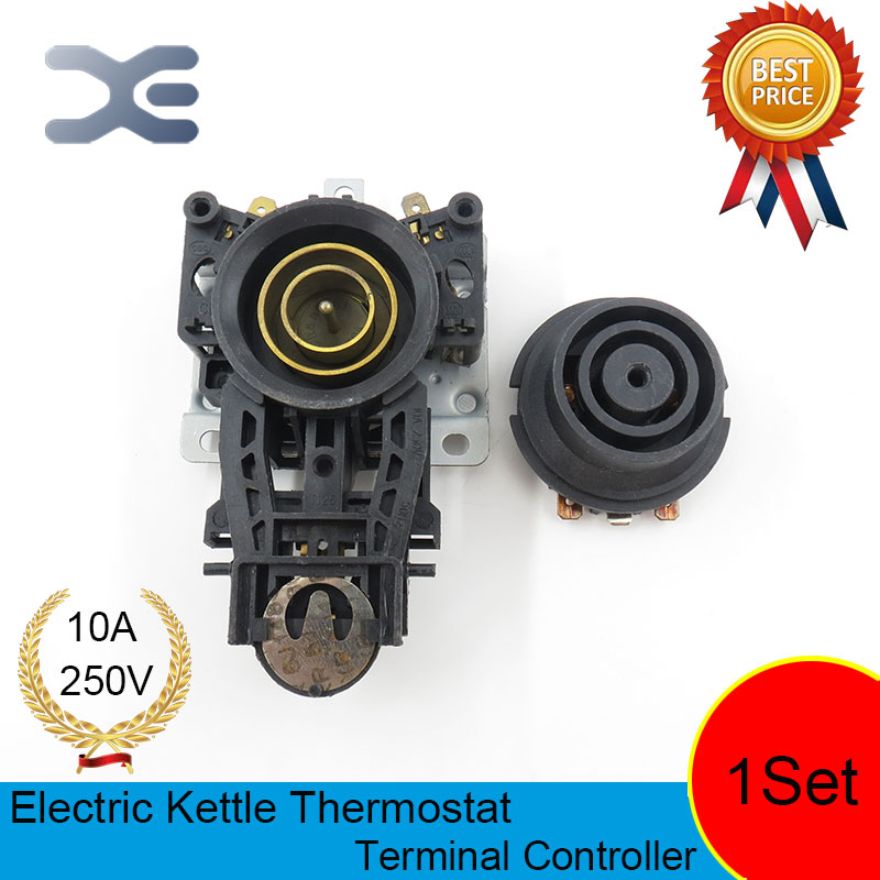 T125 10A 110-250V NC Terminal Controller New Kettle Thermostat Unused Spare Parts for Electric Kettle EK1701 thermostat temperature control kettle top base set socket electric kettle parts