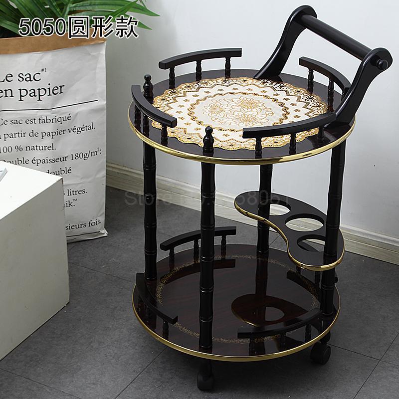 Деревянный Европейский Малый пузырьковый оборудование полка высокого класса красоты салон, отель тележка для маникюра тележка для инструмента - Цвет: ml4