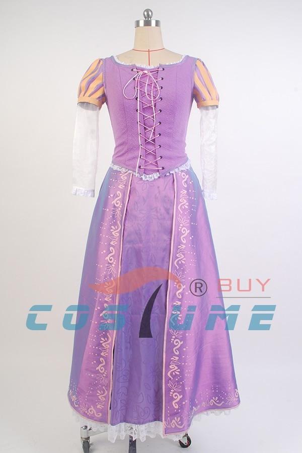 Princeza Rapunzel kostim za odrasle Fancy Rapunzel haljina zapletena - Karnevalske kostime - Foto 2