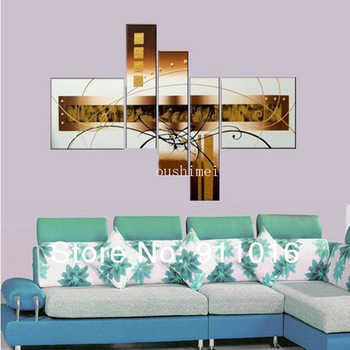 New Hand Painted Modern Abstract Oil Painting Hand Group Of Paintings On Canvas Brown Picture For Living Room Wall Decor