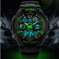 Moda skmei sports marca de relógios homens resistente ao choque digital de quartzo relógios de alarme ao ar livre militar liderada relógios casuais